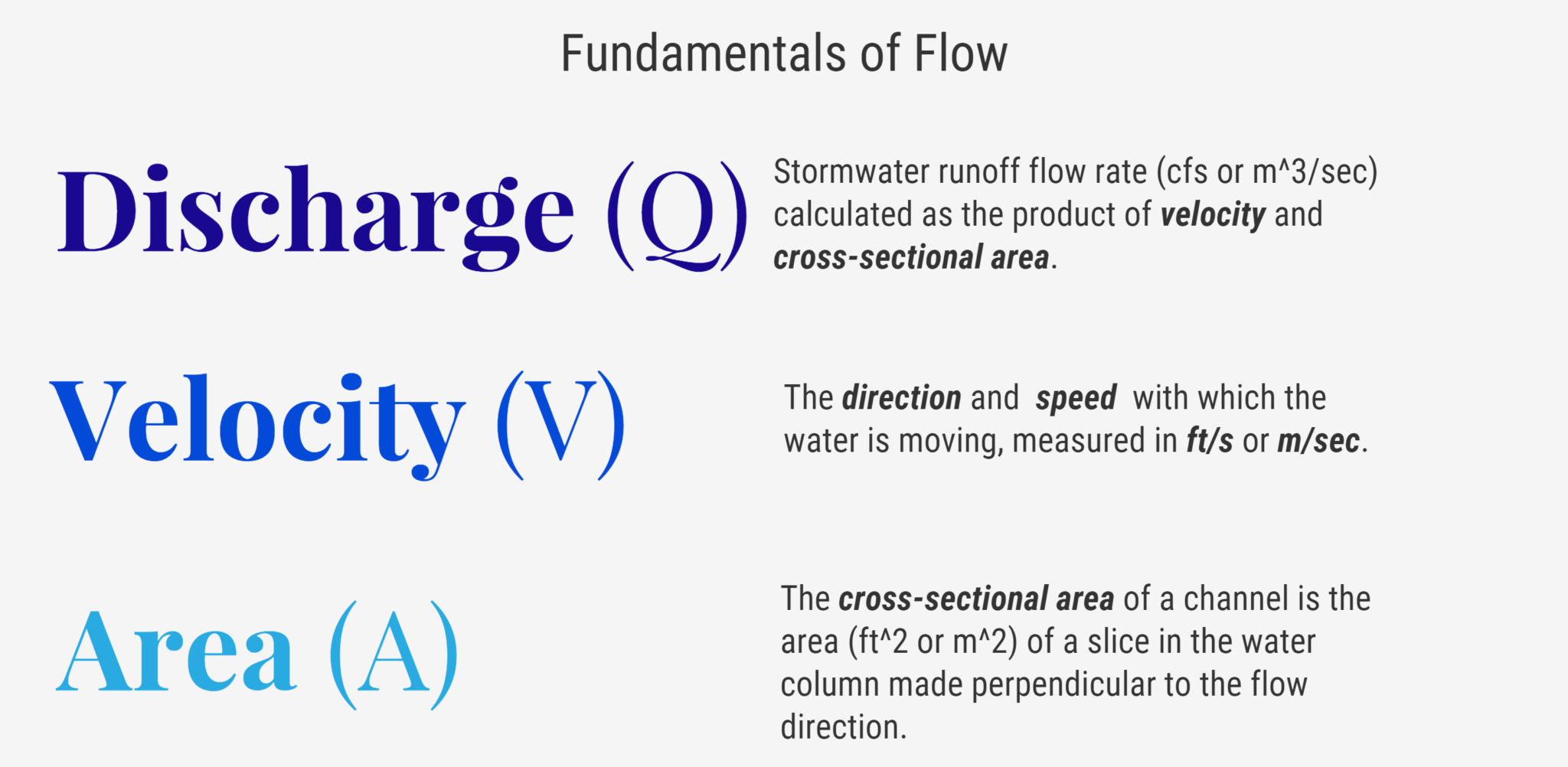 GOING WITH THE (STORMWATER) FLOW