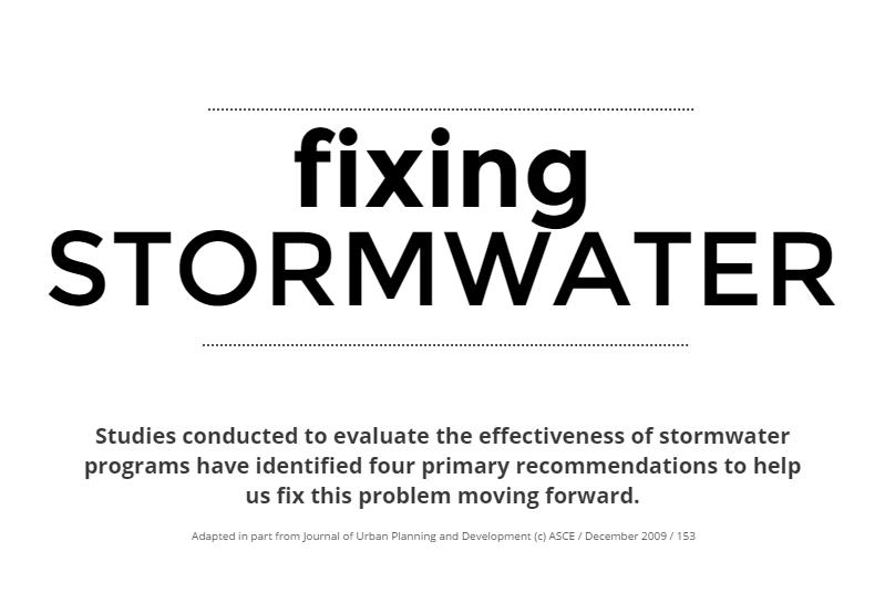 FIXING STORMWATER